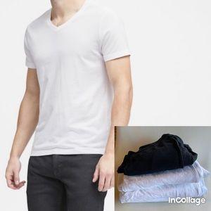 4 Lot Banana Republic cotton V-neck T-shirt men's